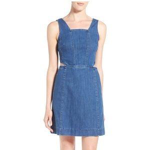 Madewell Sidecut Denim Dress